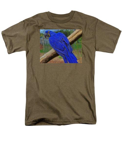 Blue Parrot Men's T-Shirt  (Regular Fit) by Jack Moskovita