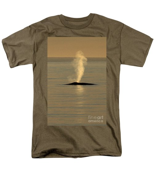 Men's T-Shirt  (Regular Fit) featuring the photograph Blue Whale At Sunset In Monterey Bay California  2013 by California Views Mr Pat Hathaway Archives