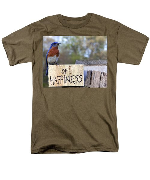 Men's T-Shirt  (Regular Fit) featuring the photograph Bluebird Of Happiness by John Crothers