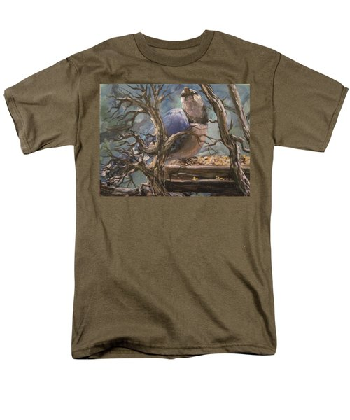 Men's T-Shirt  (Regular Fit) featuring the painting Bluejay by Megan Walsh