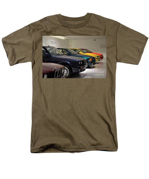 Bmw Cars Through The Years Munich Germany Men's T-Shirt  (Regular Fit) by Imran Ahmed