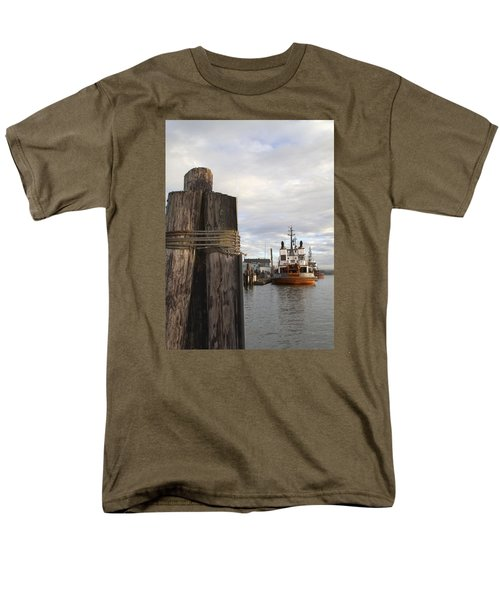 Men's T-Shirt  (Regular Fit) featuring the photograph View From The Pilings by Suzy Piatt