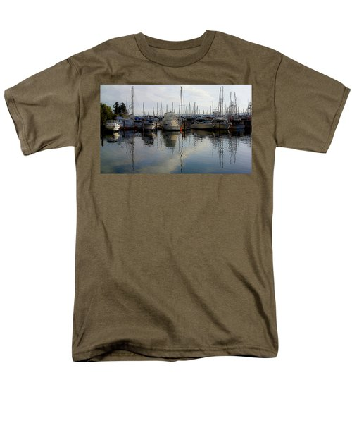 Men's T-Shirt  (Regular Fit) featuring the photograph Boats At Marina On Liberty Bay by Greg Reed