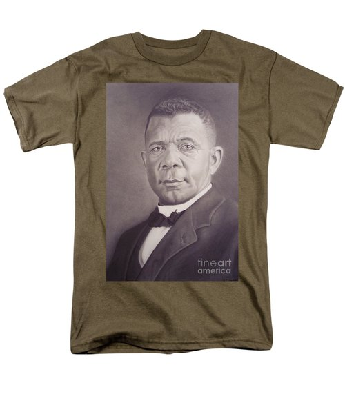Men's T-Shirt  (Regular Fit) featuring the drawing Booker T Washington by Wil Golden