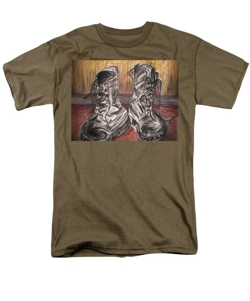 Boots In The Hall Way Men's T-Shirt  (Regular Fit) by Teresa White