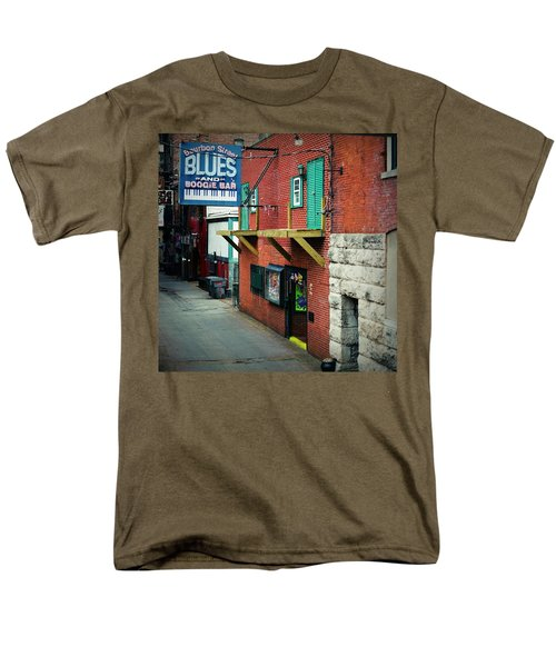 Bourbon Street Blues Men's T-Shirt  (Regular Fit) by Linda Unger