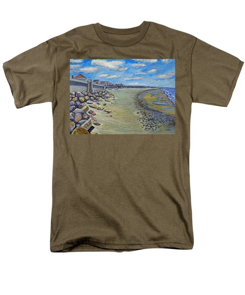 Men's T-Shirt  (Regular Fit) featuring the painting Brant Rock Beach by Rita Brown