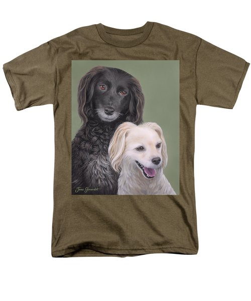 Men's T-Shirt  (Regular Fit) featuring the painting Brea And Randy by Jane Girardot