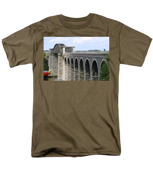 Bridging The Boyne Men's T-Shirt  (Regular Fit) by Charlie and Norma Brock