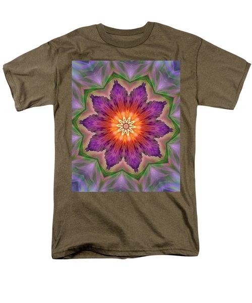 Men's T-Shirt  (Regular Fit) featuring the digital art Bright Flower by Lilia D