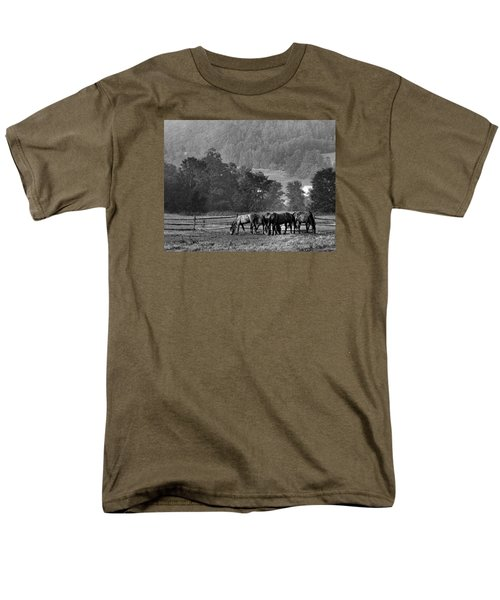 Men's T-Shirt  (Regular Fit) featuring the photograph Broodmares by Joan Davis
