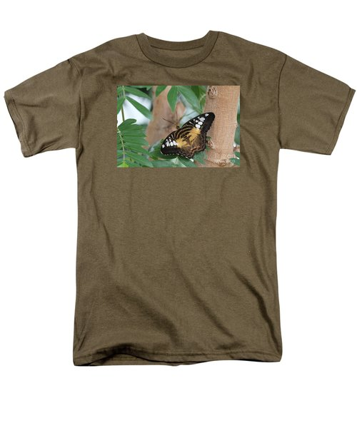 Men's T-Shirt  (Regular Fit) featuring the photograph Brown Clipper Butterfly #5 by Judy Whitton