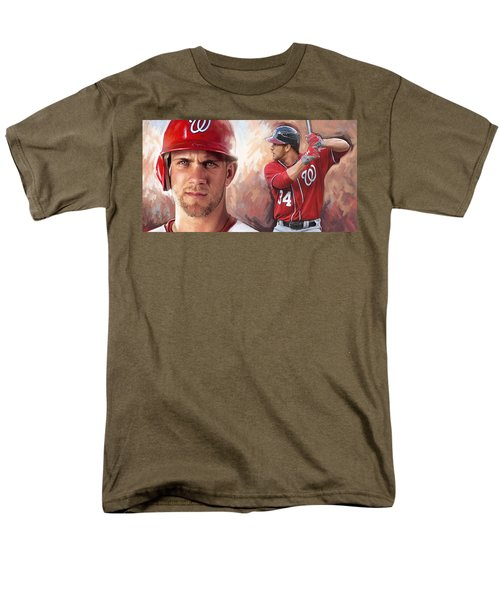 Men's T-Shirt  (Regular Fit) featuring the painting Bryce Harper Artwork by Sheraz A