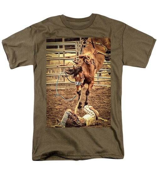 Bucking Men's T-Shirt  (Regular Fit) by Caitlyn  Grasso