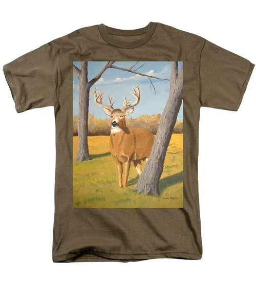 Bucky The Deer Men's T-Shirt  (Regular Fit) by Norm Starks