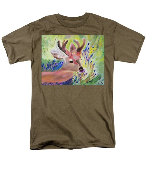 Men's T-Shirt  (Regular Fit) featuring the painting Budding Fields by Meryl Goudey