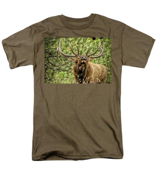 Bugling Bull Elk II Men's T-Shirt  (Regular Fit) by Ron White