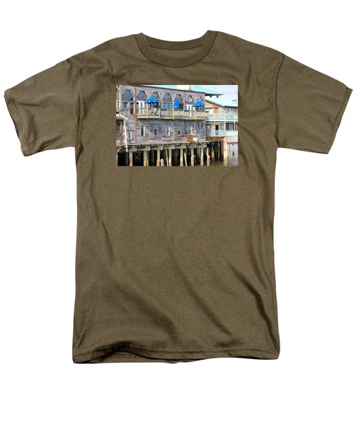 Men's T-Shirt  (Regular Fit) featuring the photograph Building On Piles Above Water by Lorna Maza