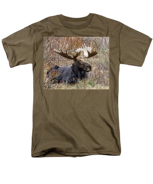 Bull Moose In Autumn Men's T-Shirt  (Regular Fit) by Jack Bell