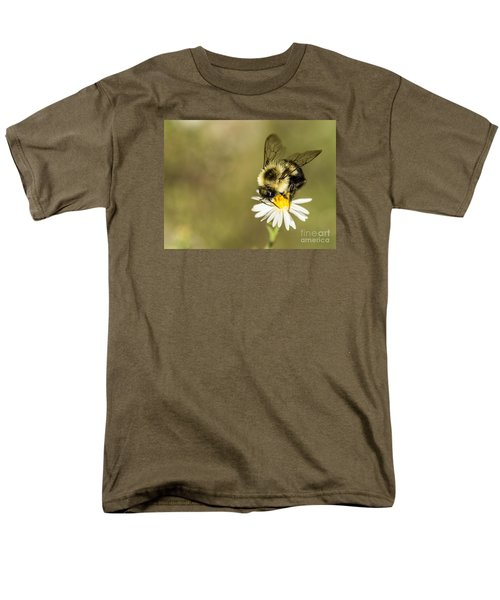 Bumble Bee Macro Men's T-Shirt  (Regular Fit) by Debbie Green