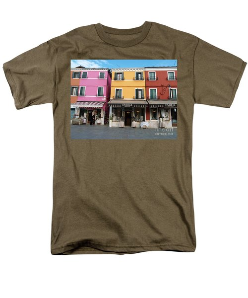 Men's T-Shirt  (Regular Fit) featuring the painting Burano by Robin Maria Pedrero