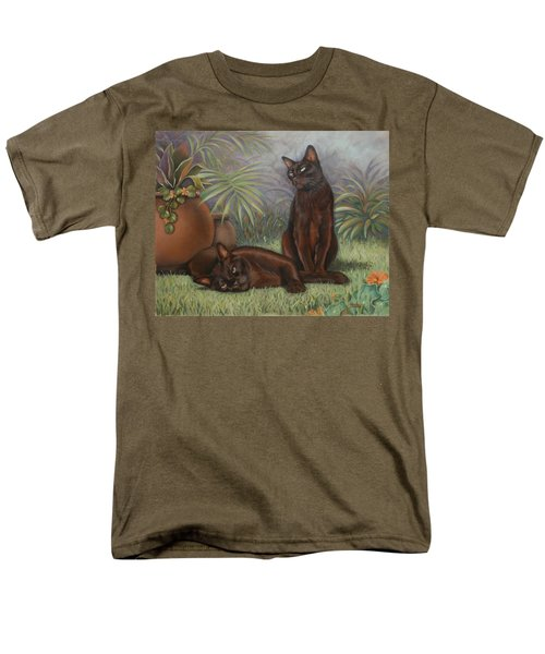 Men's T-Shirt  (Regular Fit) featuring the painting Burmese Beauty by Cynthia House