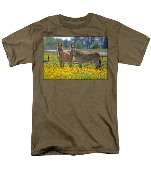 Burros In The Buttercups Men's T-Shirt  (Regular Fit) by Suzanne Stout