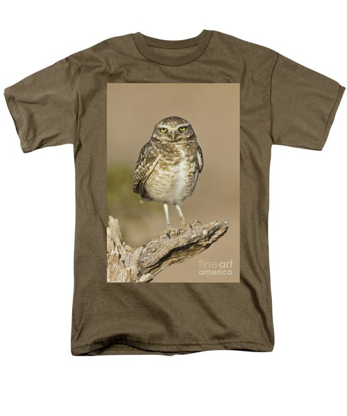Men's T-Shirt  (Regular Fit) featuring the photograph Burrowing Owl by Bryan Keil
