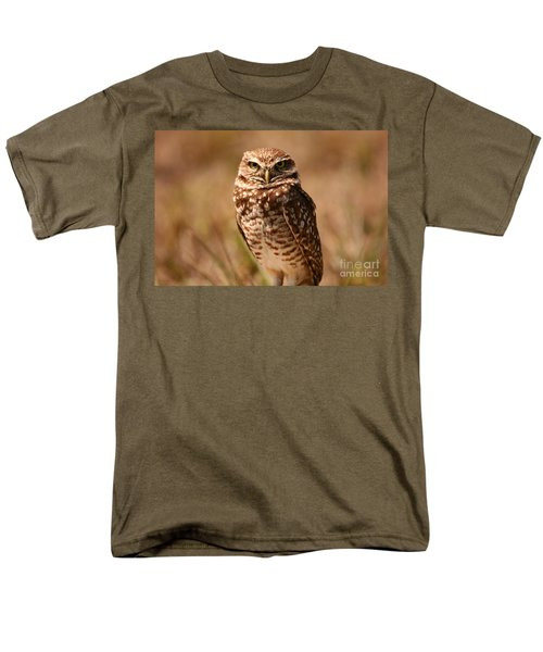Men's T-Shirt  (Regular Fit) featuring the photograph Burrowing Owl Impressions by John F Tsumas
