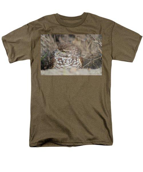 Men's T-Shirt  (Regular Fit) featuring the photograph Burrowing Owl by Oksana Semenchenko