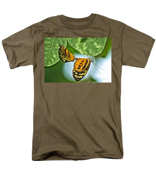 Men's T-Shirt  (Regular Fit) featuring the photograph Butterflies Mating by Thomas Woolworth