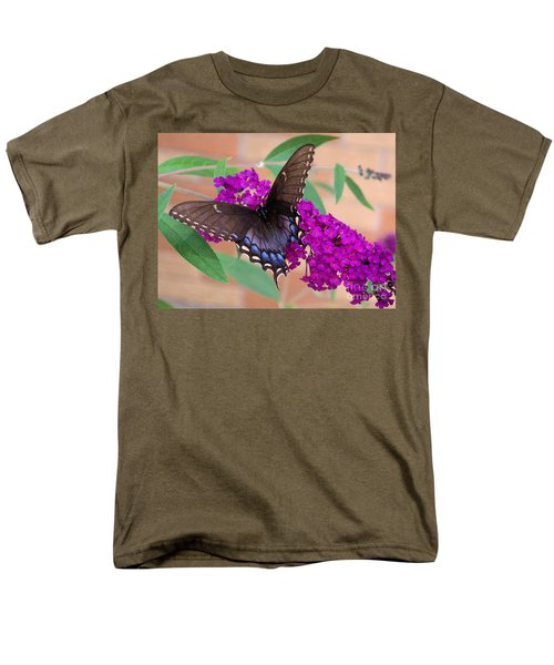 Butterfly And Friend Men's T-Shirt  (Regular Fit) by Luther Fine Art
