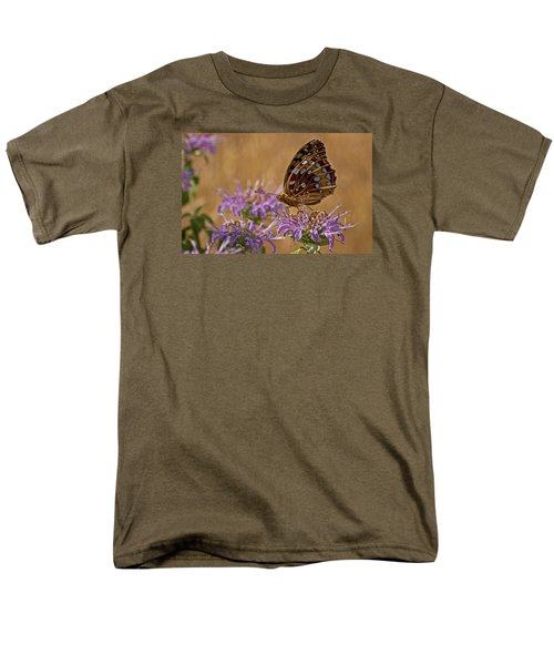 Butterfly On Bee Balm Men's T-Shirt  (Regular Fit) by Shelly Gunderson