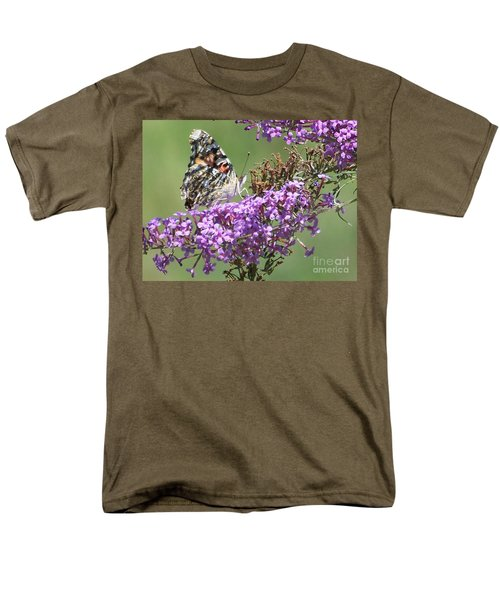 Men's T-Shirt  (Regular Fit) featuring the photograph Painted Lady Butterfly by Eunice Miller