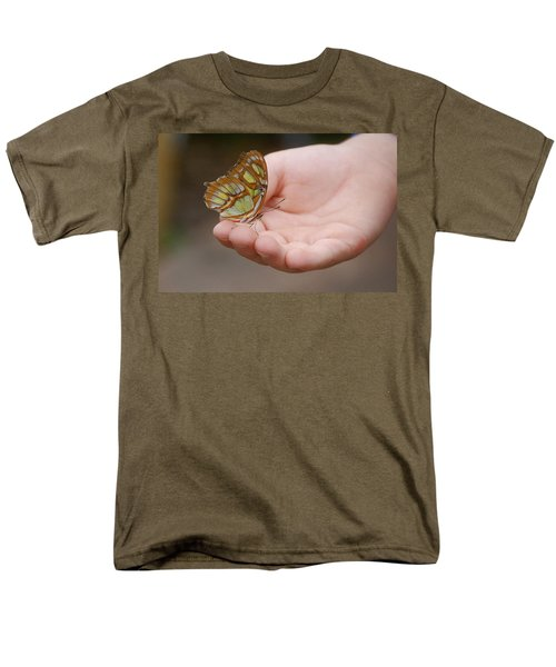 Men's T-Shirt  (Regular Fit) featuring the photograph Butterfly On Hand by Leticia Latocki