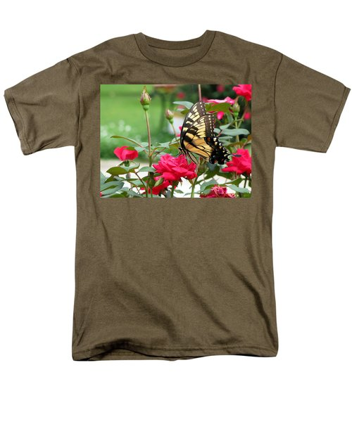 Men's T-Shirt  (Regular Fit) featuring the photograph Butterfly Rose by Greg Simmons