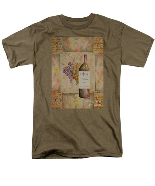 Men's T-Shirt  (Regular Fit) featuring the painting Calais Vineyard by Tamyra Crossley