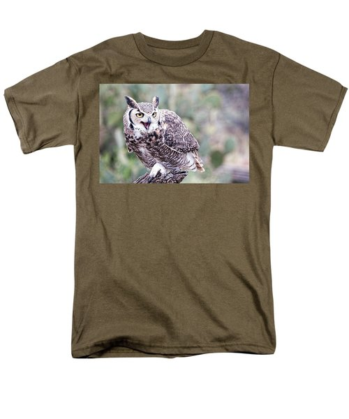 Men's T-Shirt  (Regular Fit) featuring the photograph Call Of The Owl by Dan McManus