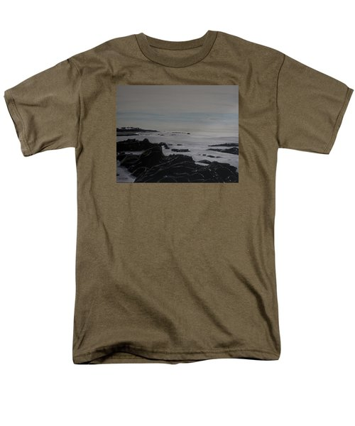 Men's T-Shirt  (Regular Fit) featuring the painting Cambria Tidal Pools by Ian Donley