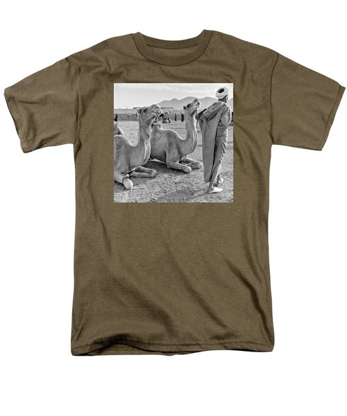 Men's T-Shirt  (Regular Fit) featuring the photograph Camel Market, Morocco, 1972 - Travel Photography By David Perry Lawrence by David Perry Lawrence