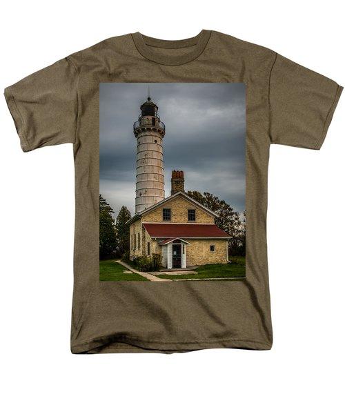 Cana Island Lighthouse By Paul Freidlund Men's T-Shirt  (Regular Fit) by Paul Freidlund