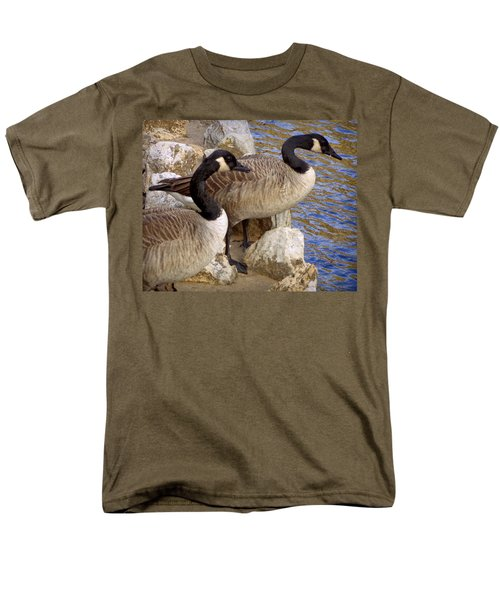 Men's T-Shirt  (Regular Fit) featuring the photograph Canada Geese by Joseph Skompski