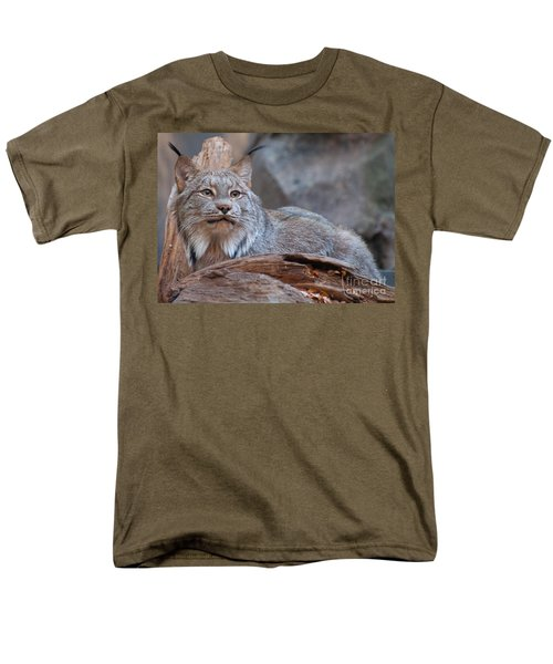 Men's T-Shirt  (Regular Fit) featuring the photograph Canada Lynx by Bianca Nadeau