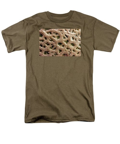 Men's T-Shirt  (Regular Fit) featuring the photograph Canteloupe Macro by Sandra Foster