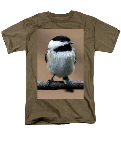 Men's T-Shirt  (Regular Fit) featuring the painting Carolina Chickadee by John Haldane