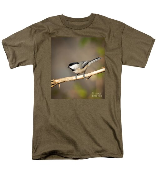 Men's T-Shirt  (Regular Fit) featuring the photograph Carolina Chickadee  by Kerri Farley