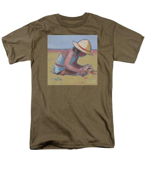 Castle Builder Beach Sand Castle Men's T-Shirt  (Regular Fit) by Mary Hubley