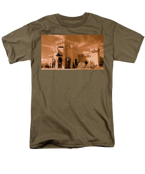 Men's T-Shirt  (Regular Fit) featuring the photograph Castle By The Road by Rodney Lee Williams
