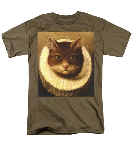 Cat In A Ruff Men's T-Shirt  (Regular Fit) by Vintage Art