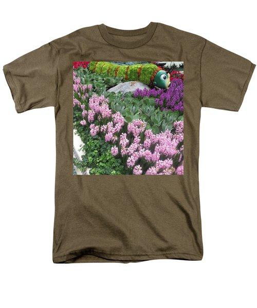 Catterpillar Large Flower Garden Vegas Men's T-Shirt  (Regular Fit) by Navin Joshi